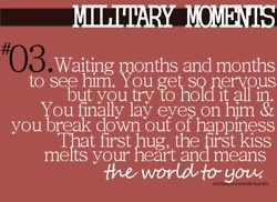 Military Love | Soldier's Wife, Crazy Life. I saw this at the airport once. Made me tear up, I'm such a sad sap romantic.