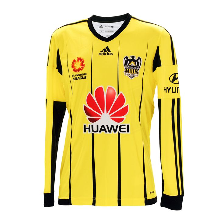 The much anticipated Wellington Phoenix Home Long Sleeve Jersey for the 2015/16 Hyundai A-League season is here! You be the judge - but we think it's the best yet!Some updates on the new playing jersey include:A traditional ribbed v-neck collar in familiar blackAn obvious update on design with the stripes now refreshed with a modern take on pin-stripesA brighter and more vibrant tone of yellow with the the familiar black contrast panels and detailingHighlight banding at the hem - which is a…