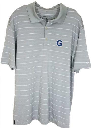 NIKE GOLF Men's Large Polo Shirt Dry-Fit GRAY Short Sleeve G Logo