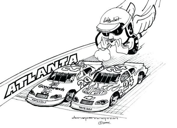 Easy Nascar Coloring Pages Printable in 2020   Nascar ...