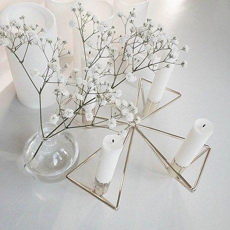 Trendy lysestake med geometriske former!