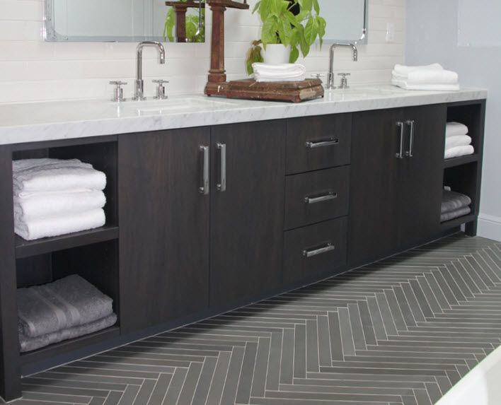 ann sacks luxor grey herringbone tile - Google Search