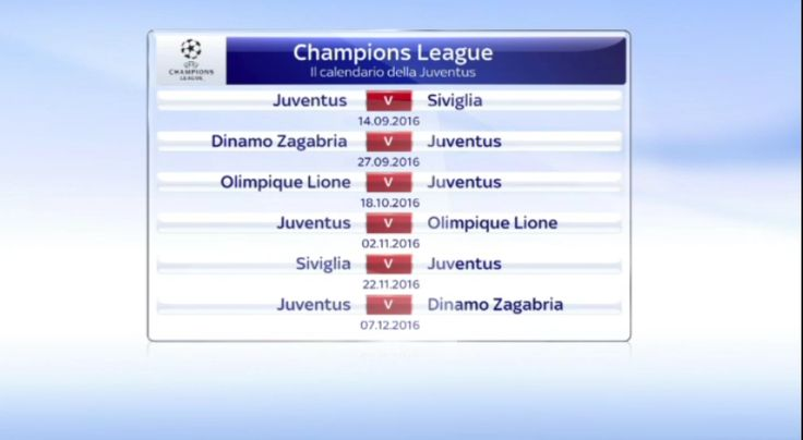 Il calendario della Juventus (Champions League) http://gianluigibuffon.forumo.de/post77140.html#p77140