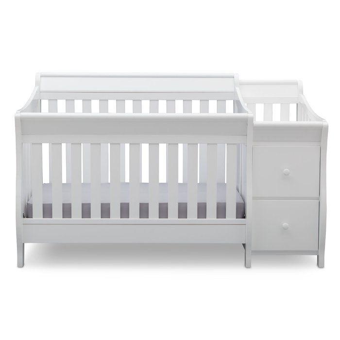 Naomi 4 In 1 Standard Convertible Crib And Changer Dormitorio Bebe Dormitorios Colores