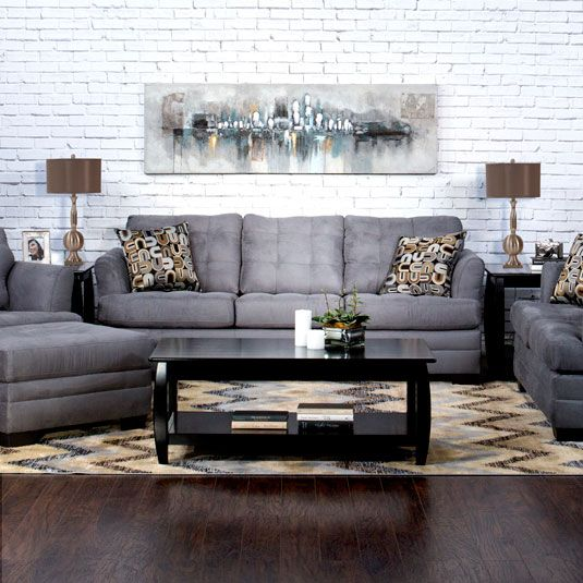 Sectional Couch Jeromes: Uptown Sofa & Loveseat By Jerome's Furniture, SKU