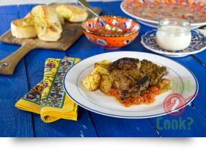 Turkish Mint and Thyme Lamb Chops, Garlic, Tomato and Capsicum Sauce | What2Cook