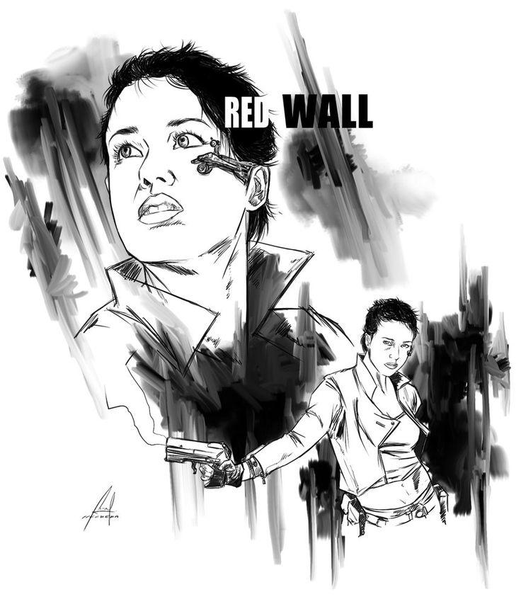 Denisse Tyler (Dhalia)- sketch RED WALL por M-HACKER-A - Personajes   Dibujando.net