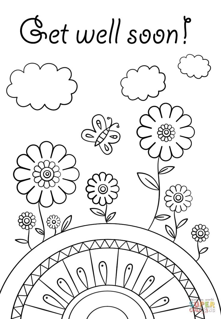 get well soon card coloring pages 2019 http//www
