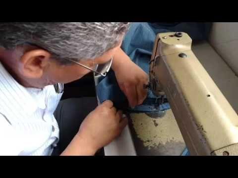 Como fazer uma barra original em calça jeans - YouTube