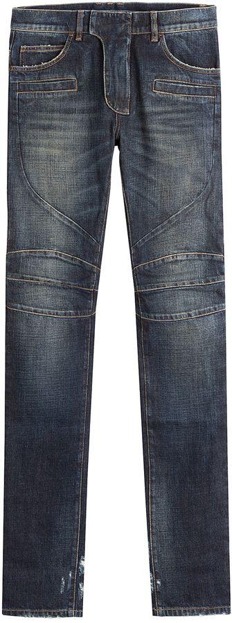 Balmain Skinny Biker Jeans- 7112style.website -