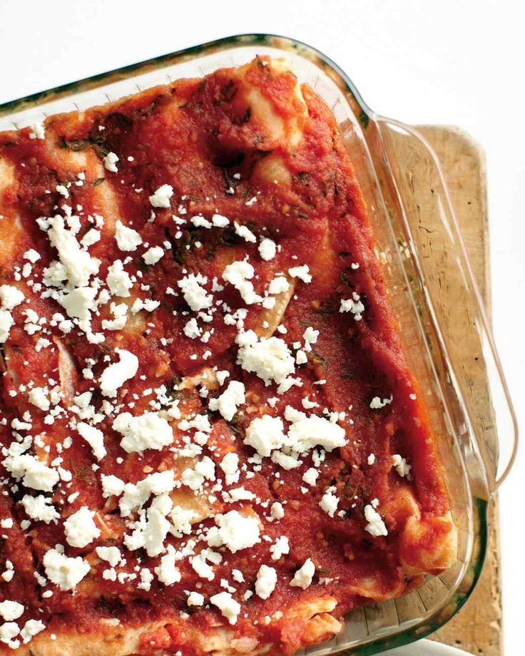Cheese Enchilada Casserole via Martha Stewart.
