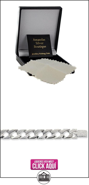 Broche de plata de ley Cadena de collar con colgante en forma - 10 mm de grosor - varias longitudes - 20, 22, 24 y 71,12 cm largo  ✿ Joyas para hombres especiales - lujo ✿ ▬► Ver oferta: https://comprar.io/goto/B015S0COE6