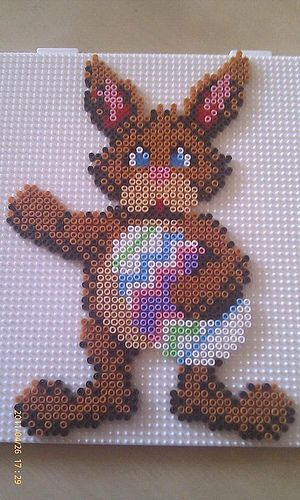 Easter bunny hama beads by Pernille Henriksen