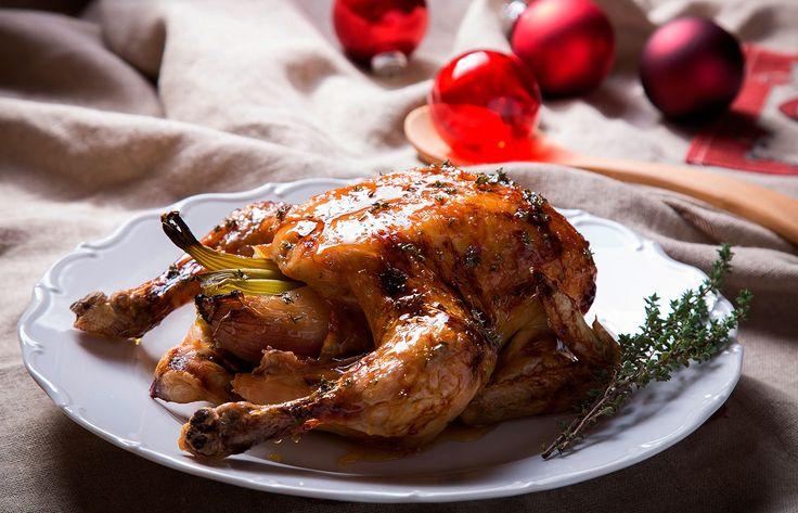 Κοτόπουλο φούρνου με γλάσο μελιού