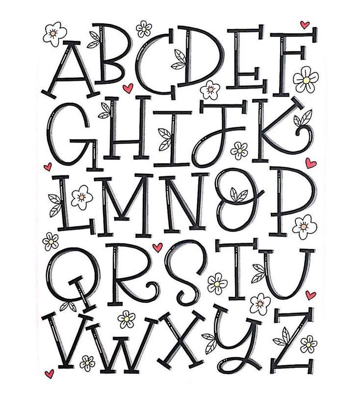 Alphabet fürs Handlettering