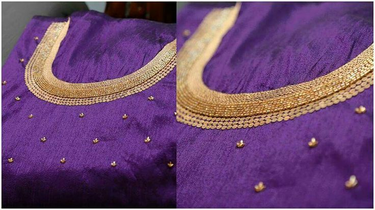 Simple elegant design with beads and sequins