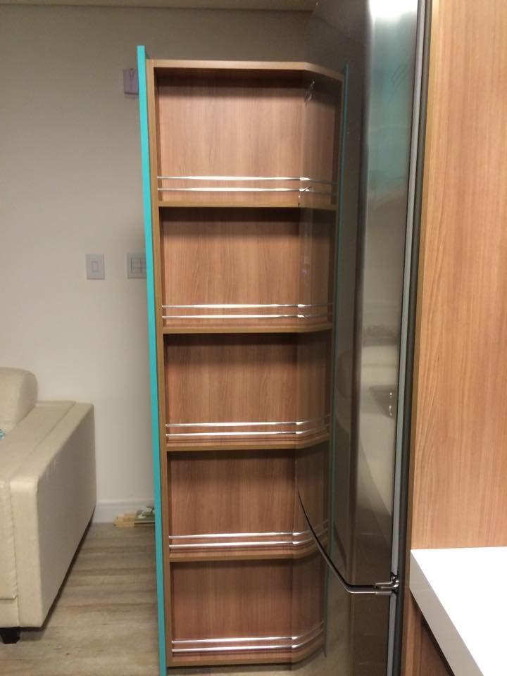 Dispensa como se fosse gaveta do lado da geladeira - Armarios para despensa ...