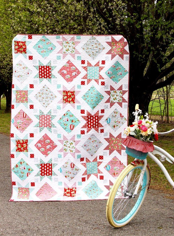 9 Fresh And Fun Summer Quilt Patterns To Start This Weekend Summer Quilts Quilt Patterns Bright Quilts