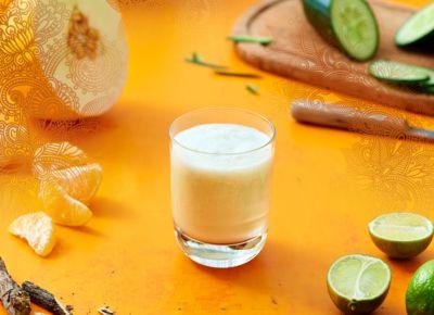 A brand-new recipe for a Cucumber-Melon Smoothie with YOGI TEA Detox.