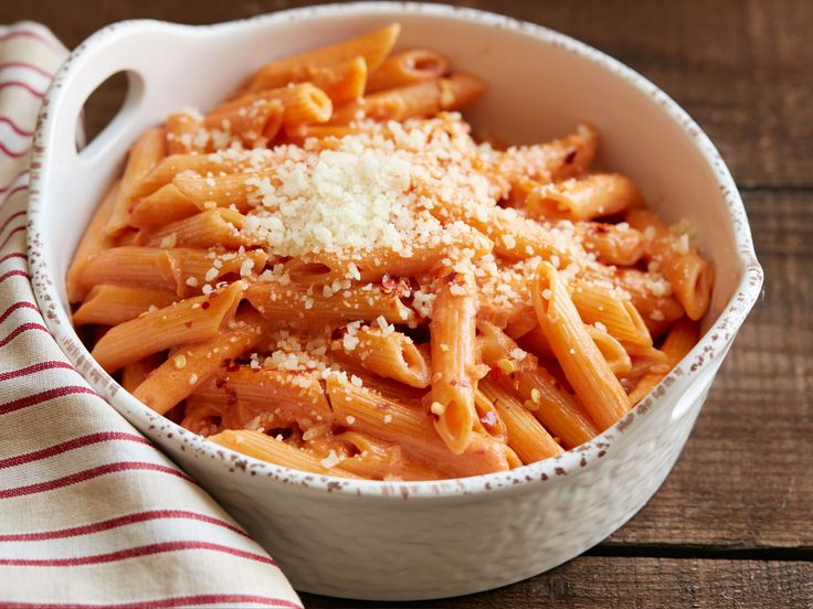 Penne alla Vodka : Don't worry: Ree's fast-fix pasta doesn't turn out super boozy. Instead, the vodka offers a welcome bite to this tomato-cream sauce, which boasts a subtle punch of spice thanks to the addition of red pepper flakes.