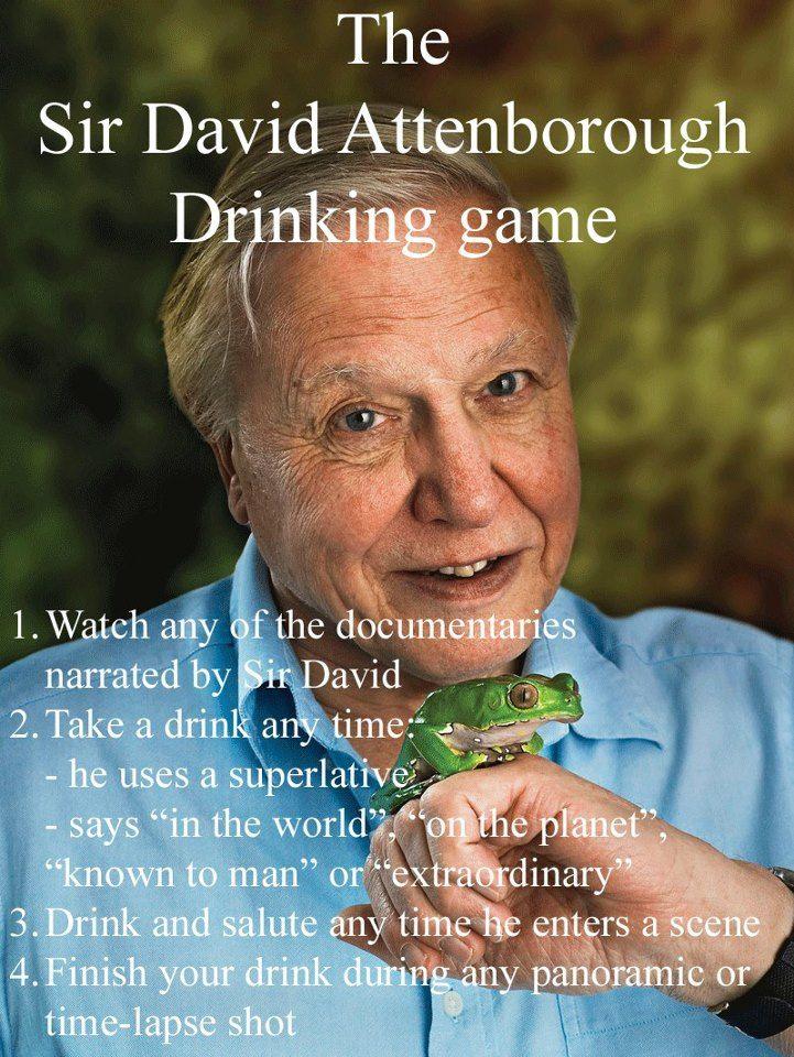 David Attenborough Drinking Game