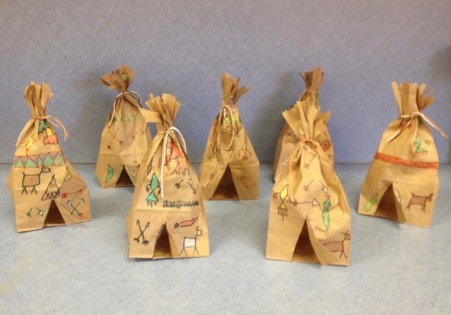 Native American Art/Symbols-Art with Mr. Giannetto blog-Paper bag Tepees-1st Grade