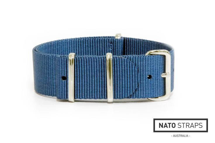 "Teal Blue ""slip through"" watch strap from watchstraps.com.au"