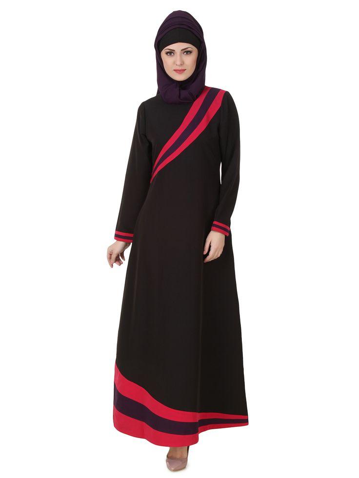 MyBatua Shimah Kashibo Black Abaya | Available in sizes XS to 7XL, lenth 50 to 66 inches.  Buy link : https://www.mybatua.com/catalogsearch/result/?q=shimah+kashibo+black+abaya