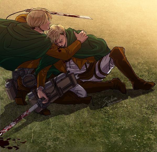 Erwin & Mike | Attack on titan mike, Attack on titan anime ...