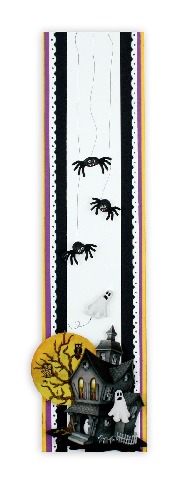 Classic Halloween Stickers  Scrapbook Border Idea #scrapbooking    Wonder if I could create digital borders and save as an element...