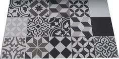 Carreaux Ciment Patchwork Noir & Blanc