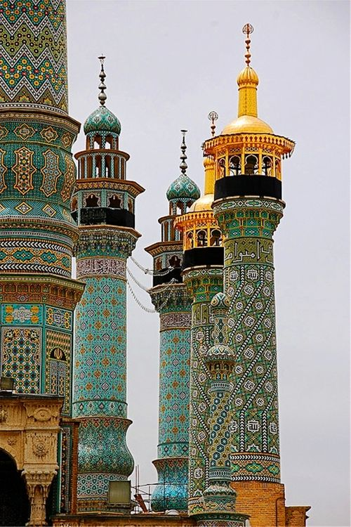 Minarets in Qom, Iran