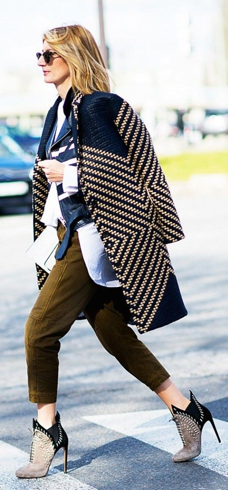 Woven Jacket + Cargo Pants + Architectural Boots