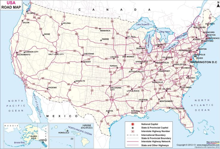 US Road Map Just Give Me A Car And A Map Well Ok GPS Is Great - Usa map with major cities and highways