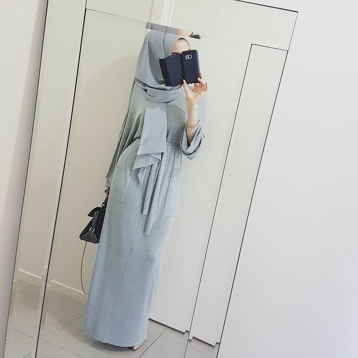 "1,116 Likes, 8 Comments - @hijabrevivalofficial on Instagram: ""Greys for days ♥ @hijab_house Knitted Maxi Dress """