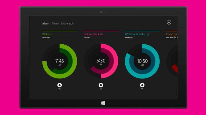 Screen shot of an app showing modern design principles
