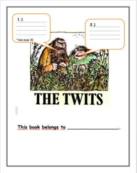 The Twits Workbook is a great accompaniment to pair with Roald Dahl's book The Twits and is great for students to use as a guide to help with comprehension and to use their creative ideas to bring the book alive for themselves! Not only does this workbook have comprehension checks, but it also includes exercises to help students develop summaries, cause and effect scenarios, understand and learn different parts of speech, practice comparative and superlatives adjectives and more.