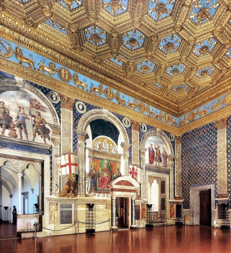 DOMENICO, il GHIRLANDAIO - Sala dei Gigli - affreschi - 1482-1484 - Palazzo Vecchio, Firenze