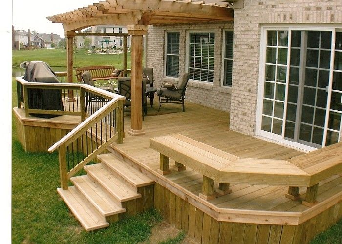 25 best ideas about backyard deck designs on pinterest Small deck ideas