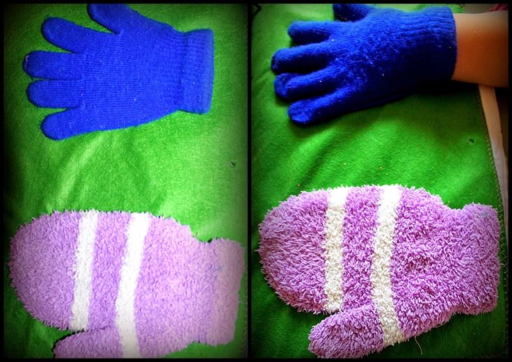 navlékání rukavic - 2 obtížnosti