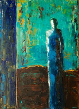 "Saatchi Art Artist Shelby McQuilkin; Painting, ""The Blues"" #art (Lisa Woolf)"