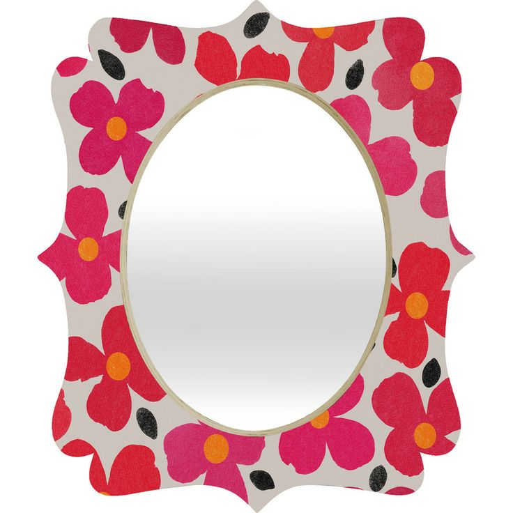 Garima Dhawan Dogwood Berry Quatrefoil Mirror | DENY Designs Home Accessories