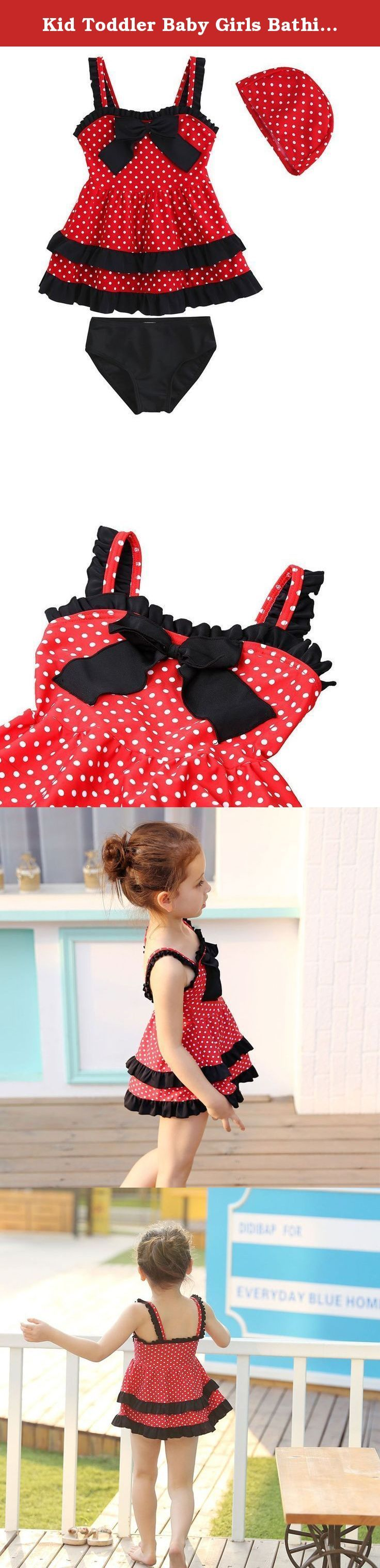 Kid Toddler Baby Girls Bathing Suit Lace Bow Dot Two Piece Swimsuit Swimwear 3. 7-15 days to arrive.