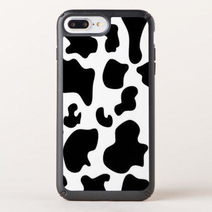 Black and White Cow Speck iPhone Case - black gifts unique cool diy customize personalize