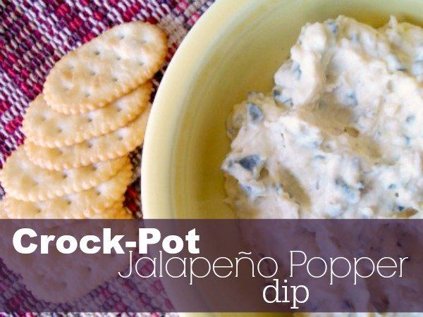 Crock-Pot Jalapeño Popper Dip {via CrockPotLadies.com} - If you love jalapeño poppers you are going to LOVE this easy dip made in your slow cooker!