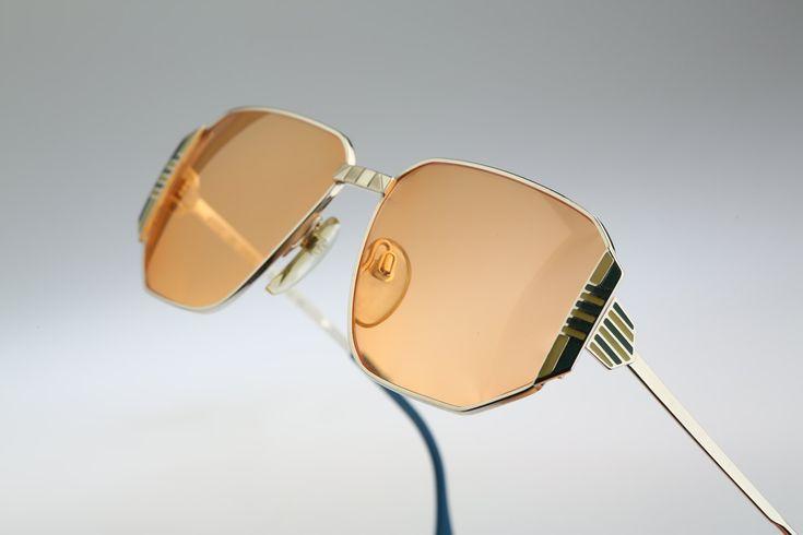 Silhouette M 6127 V 6016 / Vintage sunglasses / NOS / 80's rare and unique enamel details by CarettaVintage on Etsy