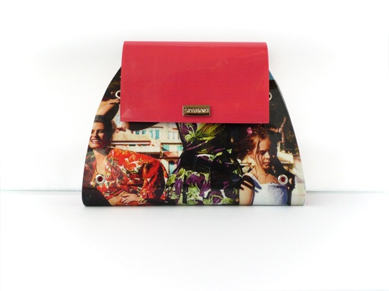 Curvy Bag by SPANAKI  Serial No: 1201   #Italia #Bellucci #handmade #upcycled #magazine