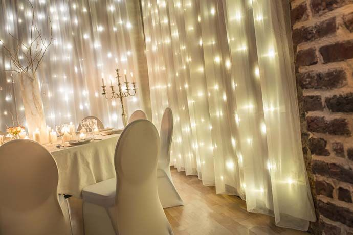 Winter Wonderland Housse de chaises et rideaux lumineux