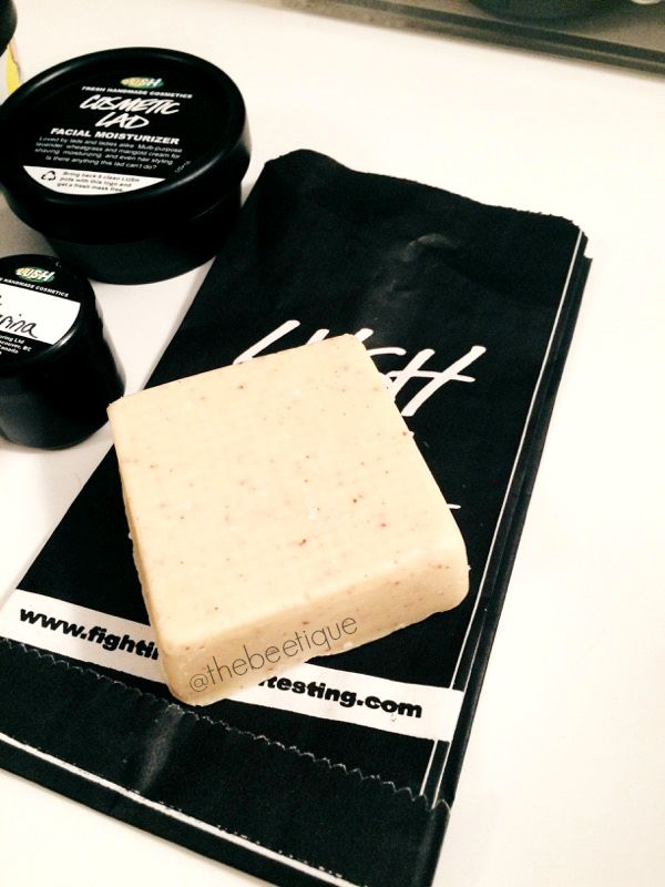 The Beetique: LUSH » Buffy for Bumpy Skin--use on upper arms & shoulders to quell red bumps, rash, psoriasis, and other conditions that cause the upper arms to break out in redness.  Dermatologist visits are expensive, so are most creams.  Wash with this to clear them away.