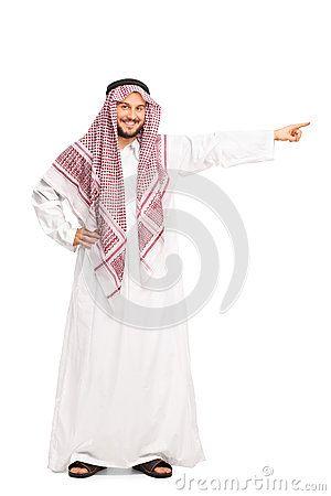 Abito bianco arabo picture